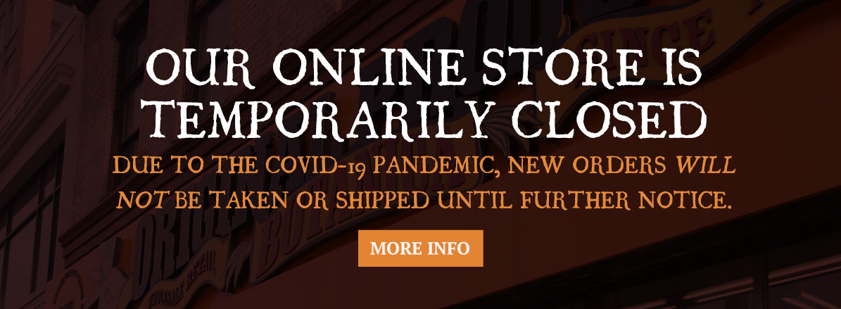 Online Store Temporarily Closed Until Further Notice