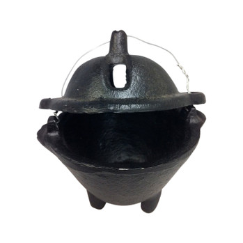 Covered Black Incense Pot