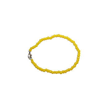 Yellow Single Beaded Bracelet