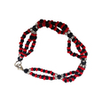 Elegua Triple Beaded Bracelet