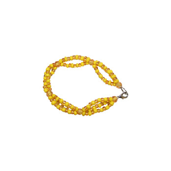 Oshun Triple Beaded Bracelet