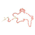 Pink Plastic Bead Rosary