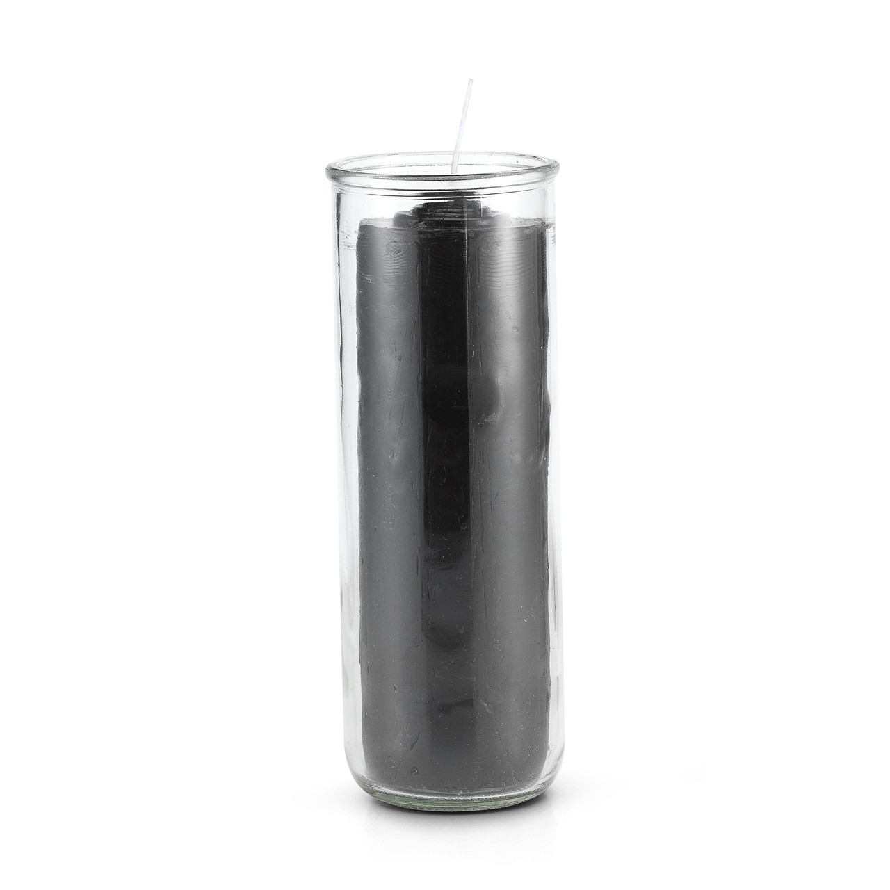 7 Day Pull Out Candle Black