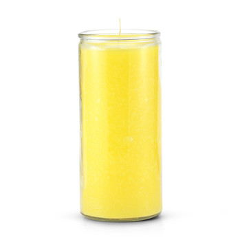 14 Day Plain Yellow Candle