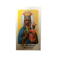 Saint Barbara Africana Laminated Prayer Card