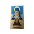 Saint Clara Laminated Prayer Card