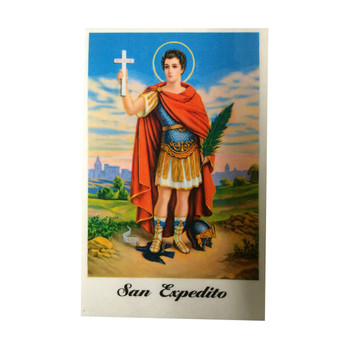 Saint Expedito Laminated Prayer Card