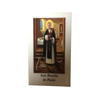 Saint Martin Laminated Prayer Card