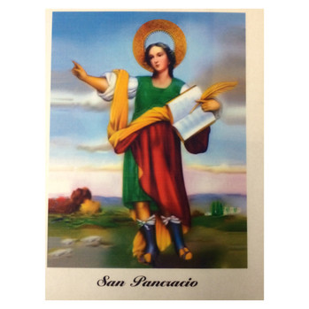 Saint Pancracio Laminated Prayer Card
