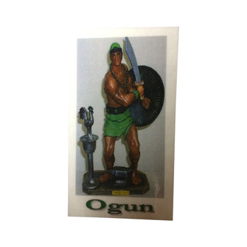 Orisha Ogun Laminated Prayer Card