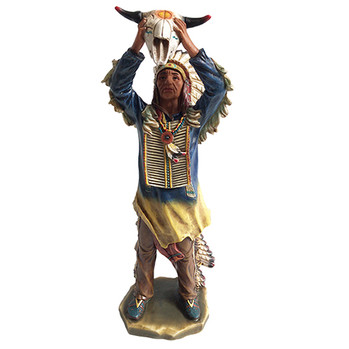 """Indian Protector Statue 16"""""""
