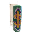Money Drawing Candle Hand Carved