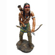 Indian Warrior Statue 14""