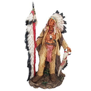 """Indian Chief Statue 26"""""""