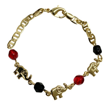 Azabache with Lucky Elephant Bracelet (Child)