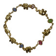 Lucky Elephant Gemstone Bracelet