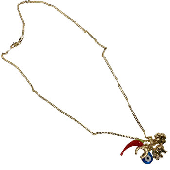 Good Luck Charm Gold Necklace