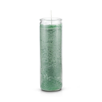 7 Day Plain Candle Green