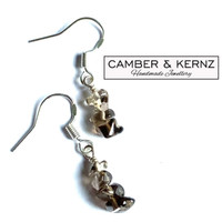 SOLD - Smoky Quartz nugget .925 Sterling Silver Earrings