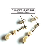 White Pearl .925 Sterling Silver Earrings