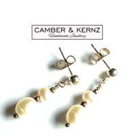White Pearl .925 Sterling Silver Earrings