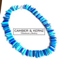 Blue Shell Pearls Collar