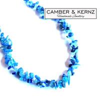 SOLD - Tanzanite, Kyanite, Lapis Lazuli & Apatite Quadrant Weave Necklace