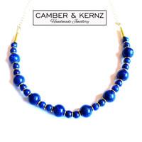 Lapis Lazuli Golden Necklace