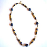 Lapis Lazuli Coil Necklace