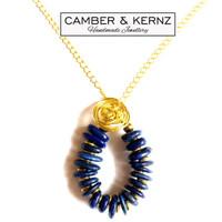 SOLD - Circular Lapis Lazuli Necklace