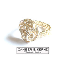 Spiral Twist Silver Plated Wire Ring (Size P/7)