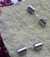 If your man is not big on colour but loves the stainless steel look, then these Haematite cylinders are the perfect choice. Simply designed and created in .925 Sterling Silver, a must for any male wardrobe
