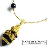Black Onyx Cabochon Necklace