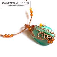 Green Agate & Carnelian Collar