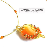 Orange Agate & Carnelian Necklace