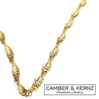 Golden Chainmaille Twist Necklace