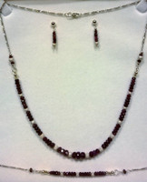 Commission piece - Stunning Rubies and .375 9ct Gold necklace, bracelet and earring set
