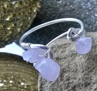 Gift - Kunzite & Silver adjustable ring