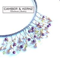 Pearls & Quartz Metallic Collar