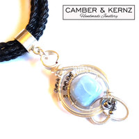 Blue Opal & Hematite Necklace