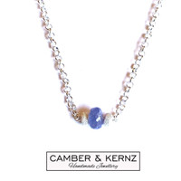 Tanzanite & .925 Dusted Rondels Necklace