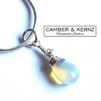 Pear Shaped Ethiopian Opal .925 Necklace