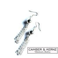 Fringed .925 Sterling Silver Earrings
