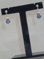Willful and wonderful, these beautiful Tanzanite earrings, full of lavender hues, which gently sparkle from the faceted rondels and dusted .925 Sterling Silver rondels...jsut amazing!