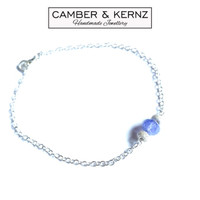 "Tanzanite .925 Sterling Silver Bracelet 7"""