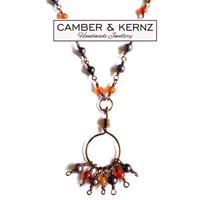 Purple Pearls & Carnelian Necklace