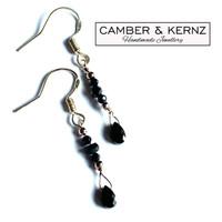 Black Spinel Drop .925 Earrings