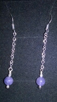 SOLD - Amazing round Tanzanite and 925 Sterling Silver earrings, check out those hues...just wonderful!