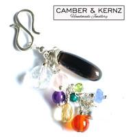 Healing Multi-Gemstone .925 Sterling Silver Pendant