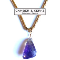 """Solitaire Ametrine on 20"""" Gold Filled Chain"""